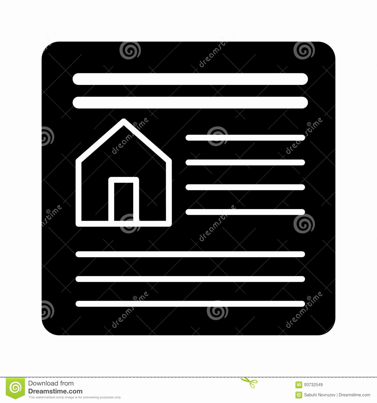 Simple Real Estate Contract Best Of Real Estate Contract Simple Vector Icon Black and White