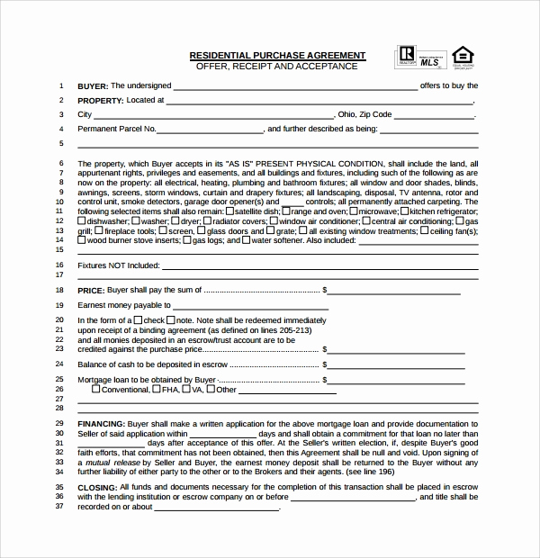 Simple Real Estate Contract Fresh 14 Sample Real Estate Purchase Agreement Templates