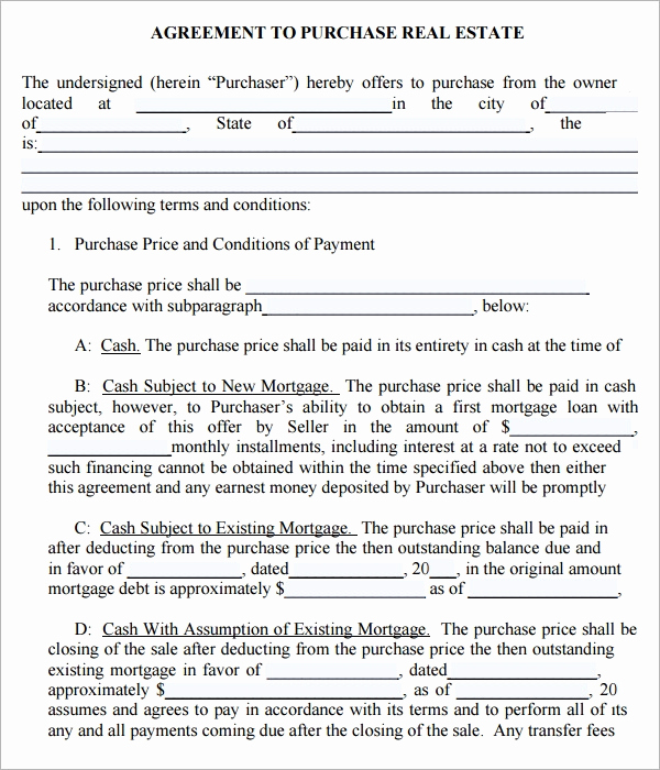 Simple Real Estate Contract Inspirational Purchase Agreement 9 Download Documents In Pdf Word