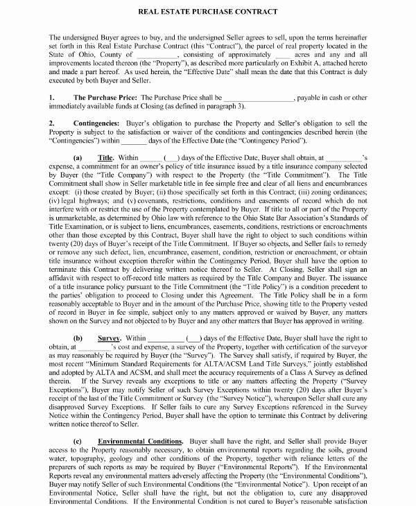Simple Real Estate Contract New 11 Real Estate Purchase Contract Examples Pdf Word