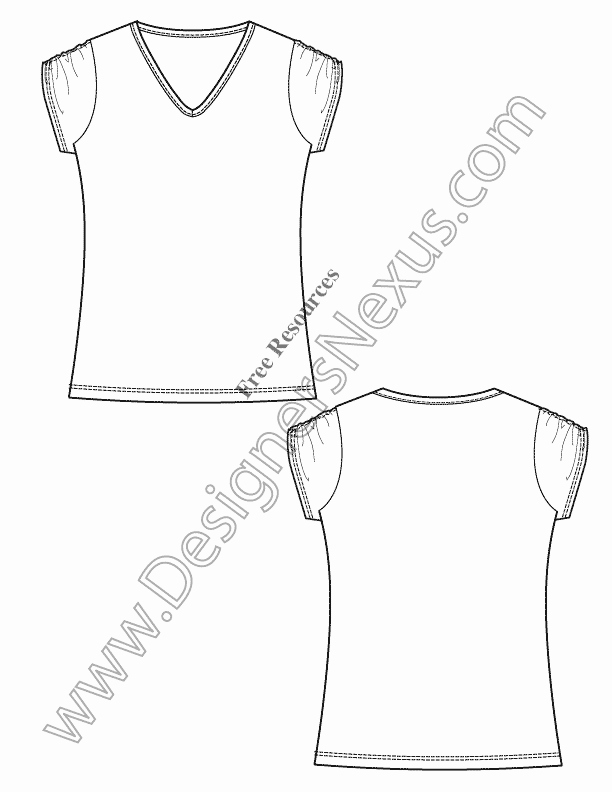 T Shirt Template Illustrator Beautiful V11 Free Vector T Shirt Template Illustrator Fashion