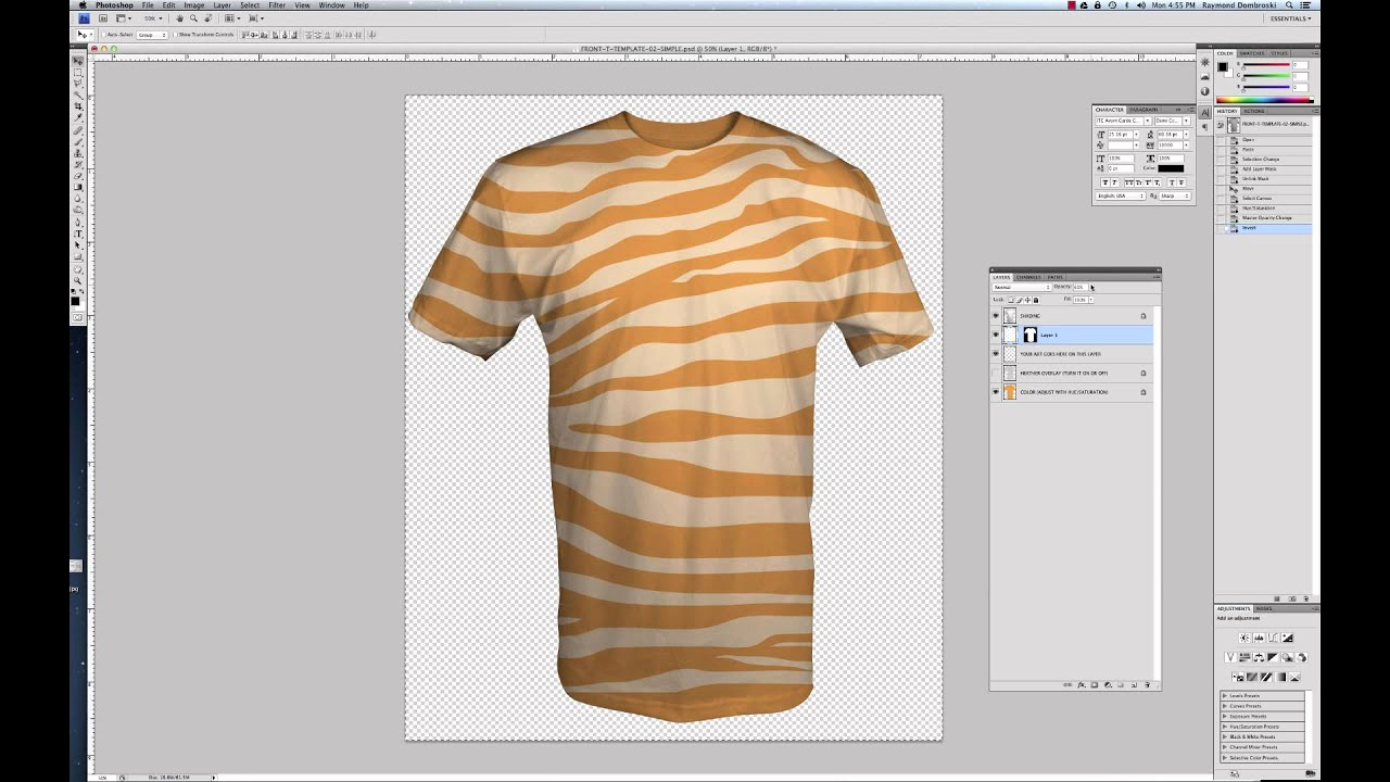 T Shirt Template Illustrator Best Of Tutorial How to Use Simplified T Shirt Templates for