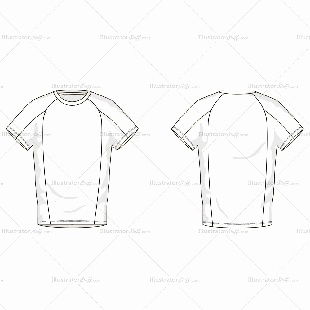 T Shirt Template Illustrator Elegant Men S T Shirt Fashion Flat Template – Illustrator Stuff