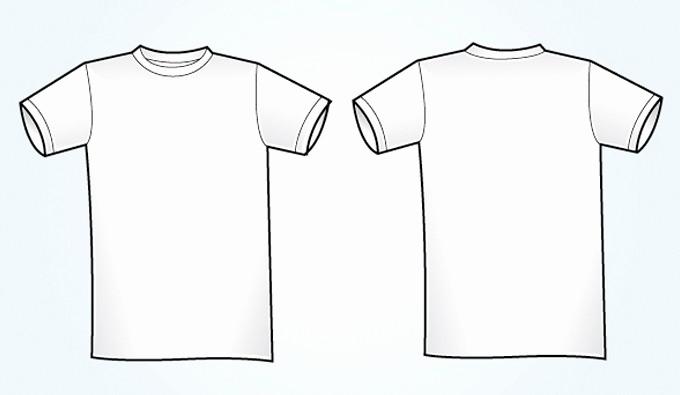 T Shirt Template Illustrator Fresh Blank White Vector T Shirt Template