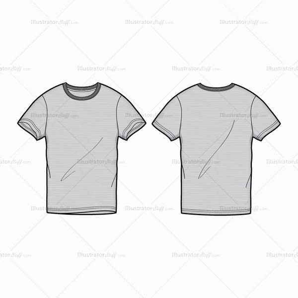 T Shirt Template Illustrator Lovely Men S Gray Round Neck T Shirt Fashion Flat Template
