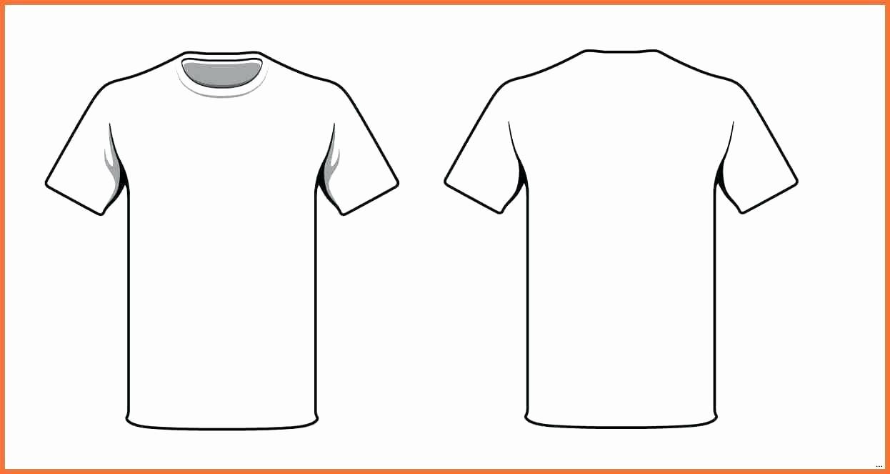 T Shirt Template Illustrator New Football Kit Outline Template