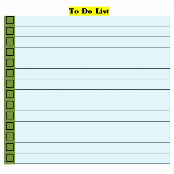 To Do List Template Word Best Of to Do List Template Word