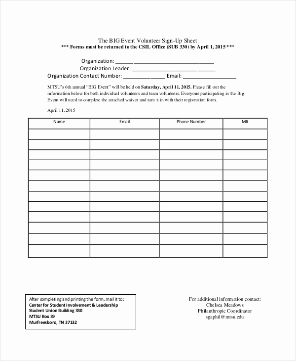 Volunteer Sign In Sheet New event Sign In Sheet Template 16 Free Word Pdf