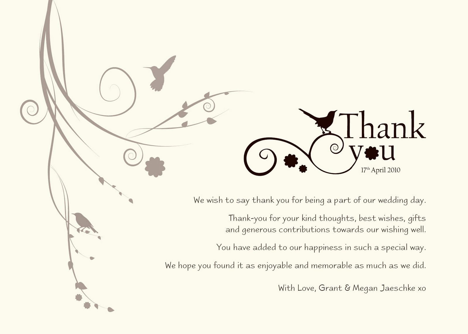 "Wedding Thank You Card Template Awesome Damsel Design Wedding ""thank You"" Cards"