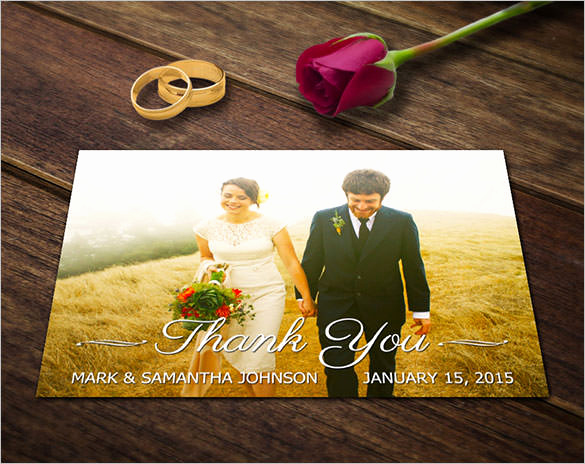 Wedding Thank You Card Template Beautiful 21 Wedding Thank You Cards – Free Printable Psd Eps