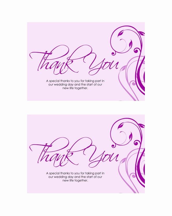 Wedding Thank You Card Template Beautiful 30 Free Printable Thank You Card Templates Wedding