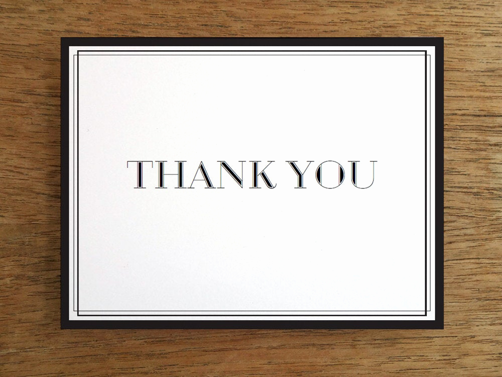 Wedding Thank You Card Template Beautiful Wedding Thank You Card Template Black and White Printable