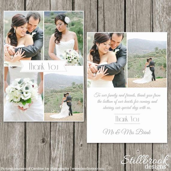 Wedding Thank You Card Template Beautiful Wedding Thank You Card Template Bridesmaid Thank You