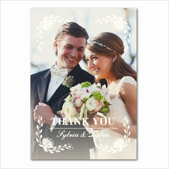 Wedding Thank You Card Template Best Of 21 Wedding Thank You Cards – Free Printable Psd Eps