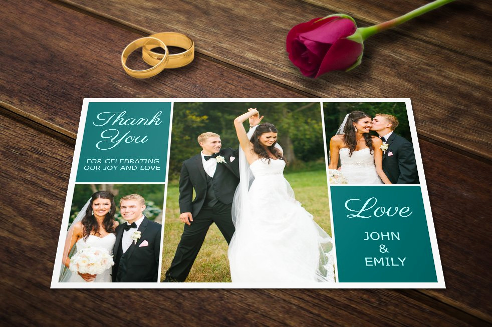 Wedding Thank You Card Template Best Of Wedding Thank You Postcards Template Card Templates