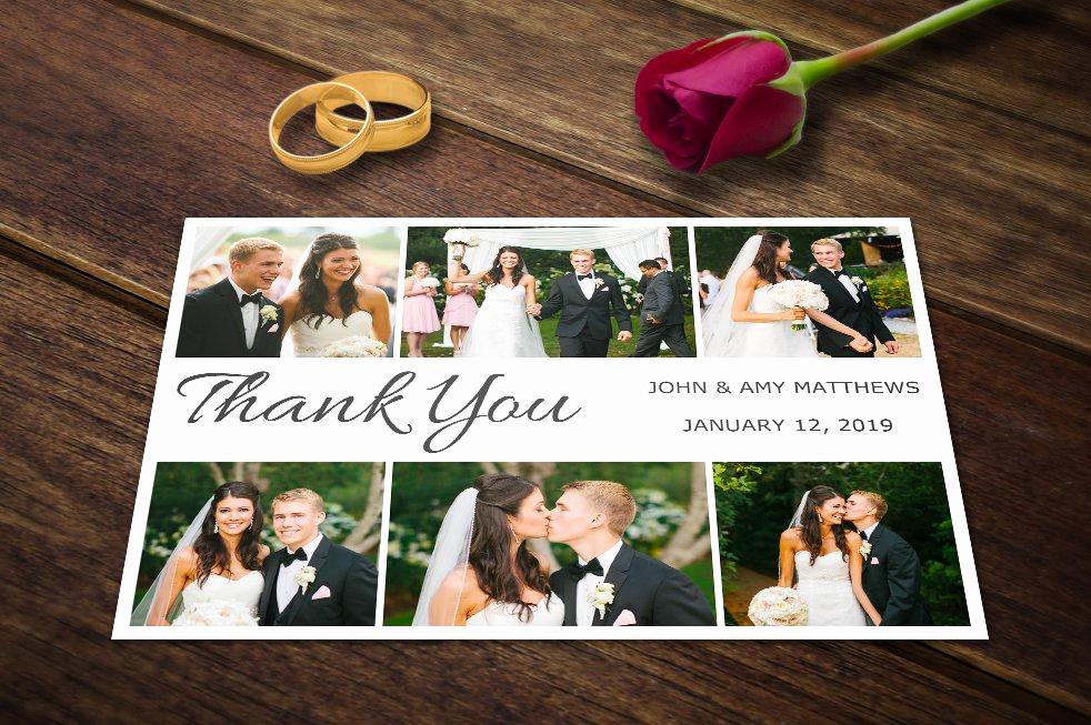 Wedding Thank You Card Template Elegant Wedding Thank You Card Templates Psd Wedding Templates