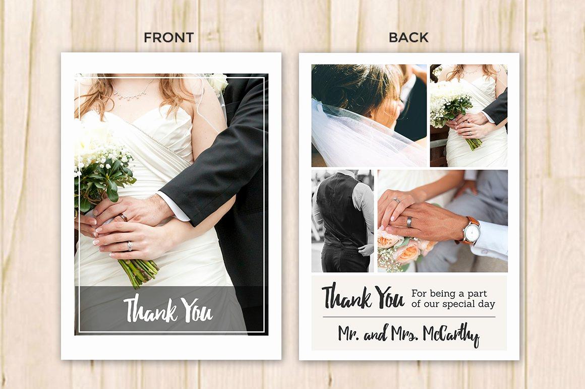 Wedding Thank You Card Template Fresh Wedding Thank You Card Template Flyer Templates