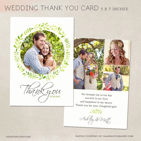 Wedding Thank You Card Template Fresh Wedding Thank You Card Template for Graphers Psd