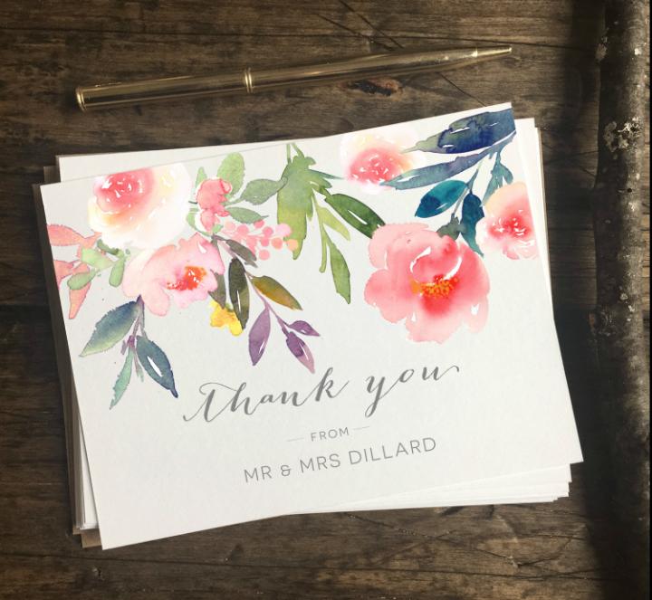 Wedding Thank You Card Template Inspirational 15 Cool Wedding Thank You Card Designs & Templates Psd
