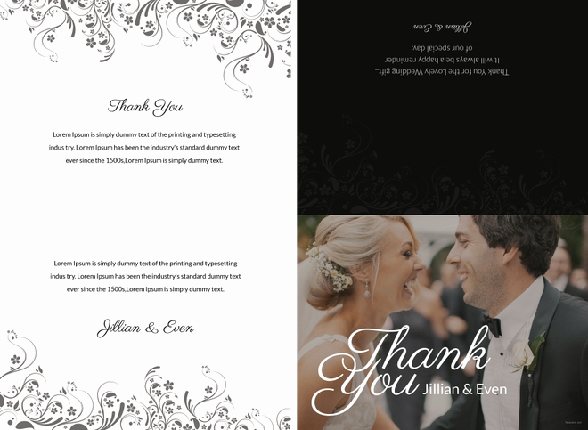 Wedding Thank You Card Template Luxury 35 Free Thank You Card Templates Psd Ai Vector Eps