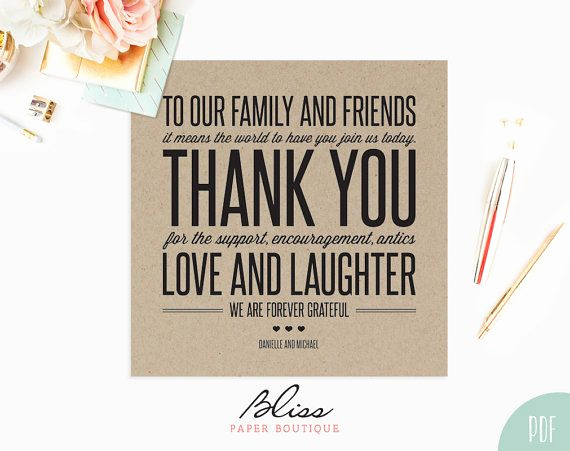 Wedding Thank You Card Template Luxury Best 25 Wedding Thank You Cards Ideas On Pinterest