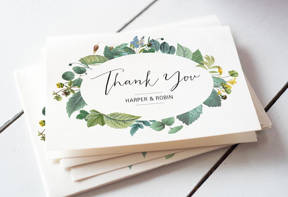 Wedding Thank You Card Template New Wedding Thank You Card Wording 4 Super Easy Templates