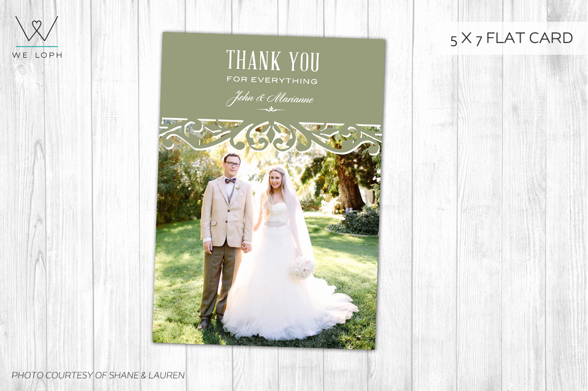 Wedding Thank You Card Template Unique Wedding Thank You Card Template Card Templates On