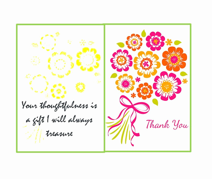 Wedding Thank You Note Template Fresh 30 Free Printable Thank You Card Templates Wedding