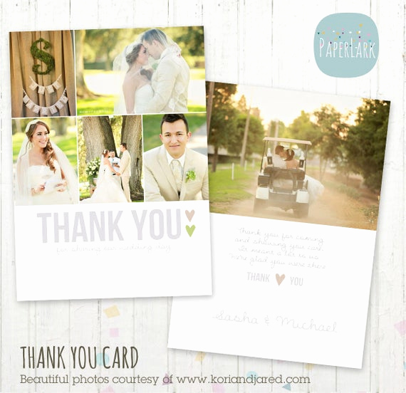 Wedding Thank You Note Template Fresh Wedding Thank You Card Shop Template by Paperlarkdesigns