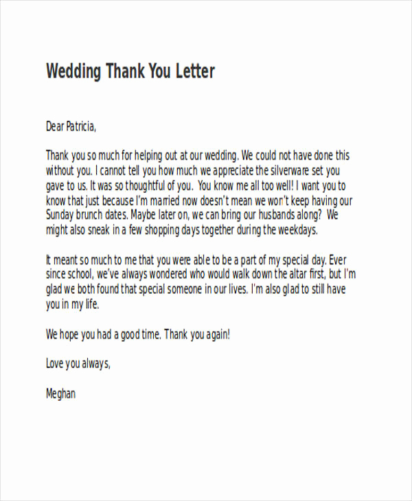 Wedding Thank You Note Template Inspirational 74 Thank You Letter Examples Doc Pdf