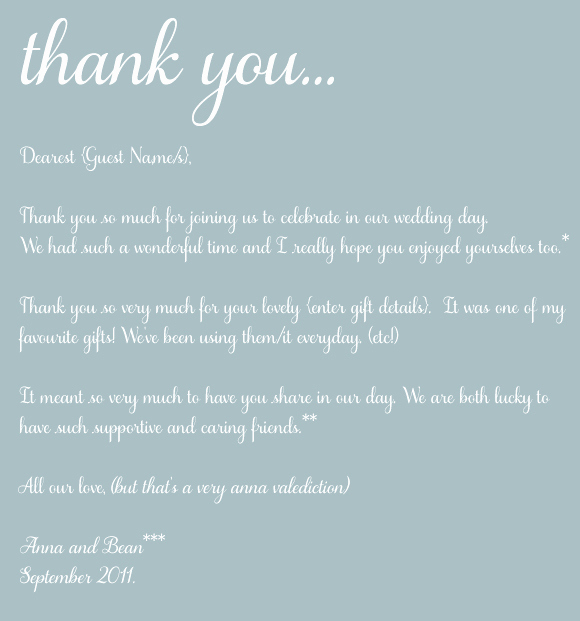 Wedding Thank You Note Template Lovely the Art Of Thank You thoughts the Post Wedding