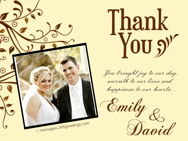 Wedding Thank You Note Template Lovely Wedding Thank You Messages 365greetings
