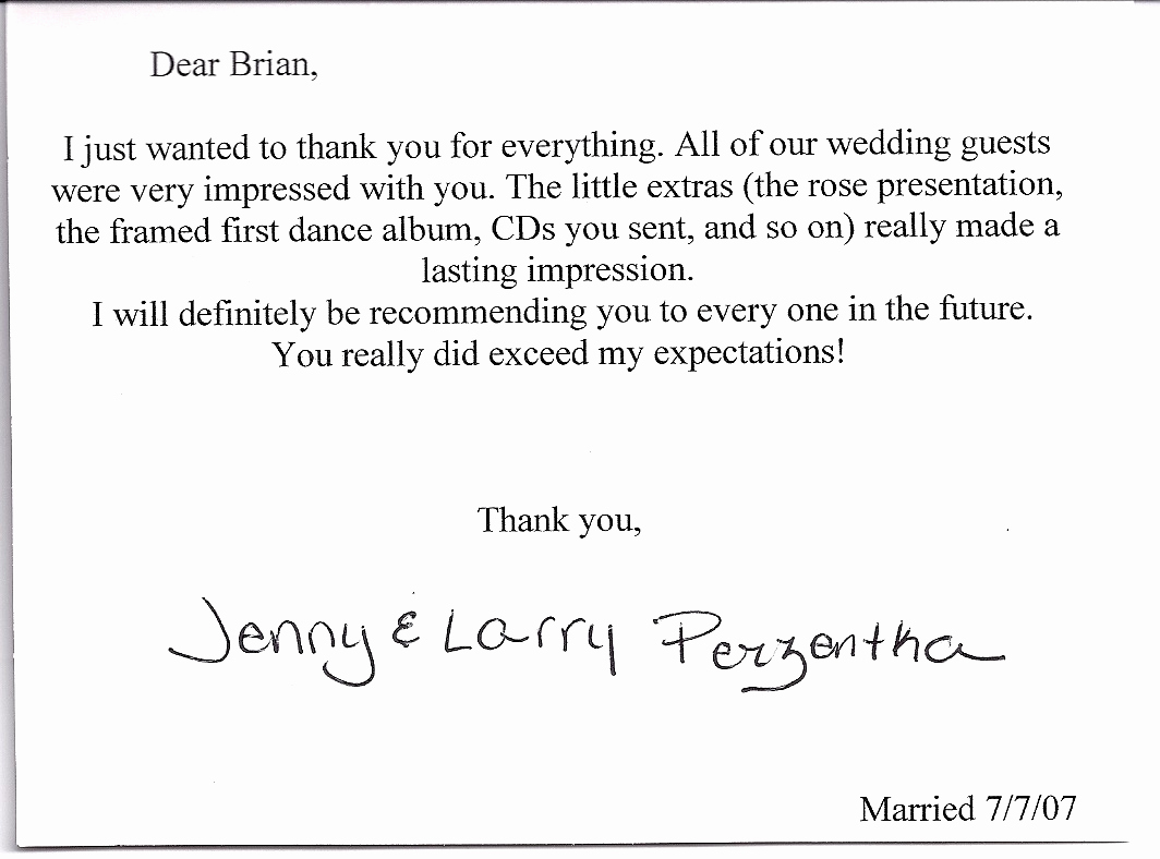 Wedding Thank You Note Template Lovely Wedding Thank You Note Template 2018