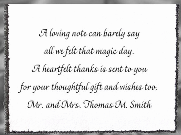 Wedding Thank You Note Template New Wedding Thank You Wording Card Step
