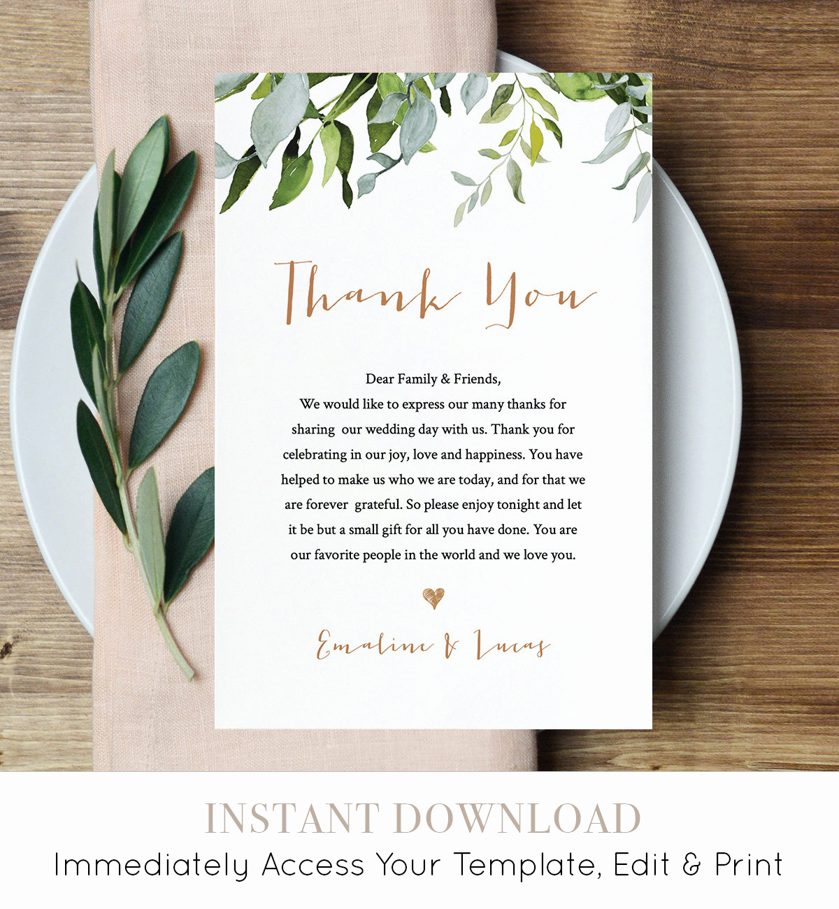 Wedding Thank You Note Template Unique Thank You Letter Template Wedding Reception Thank You
