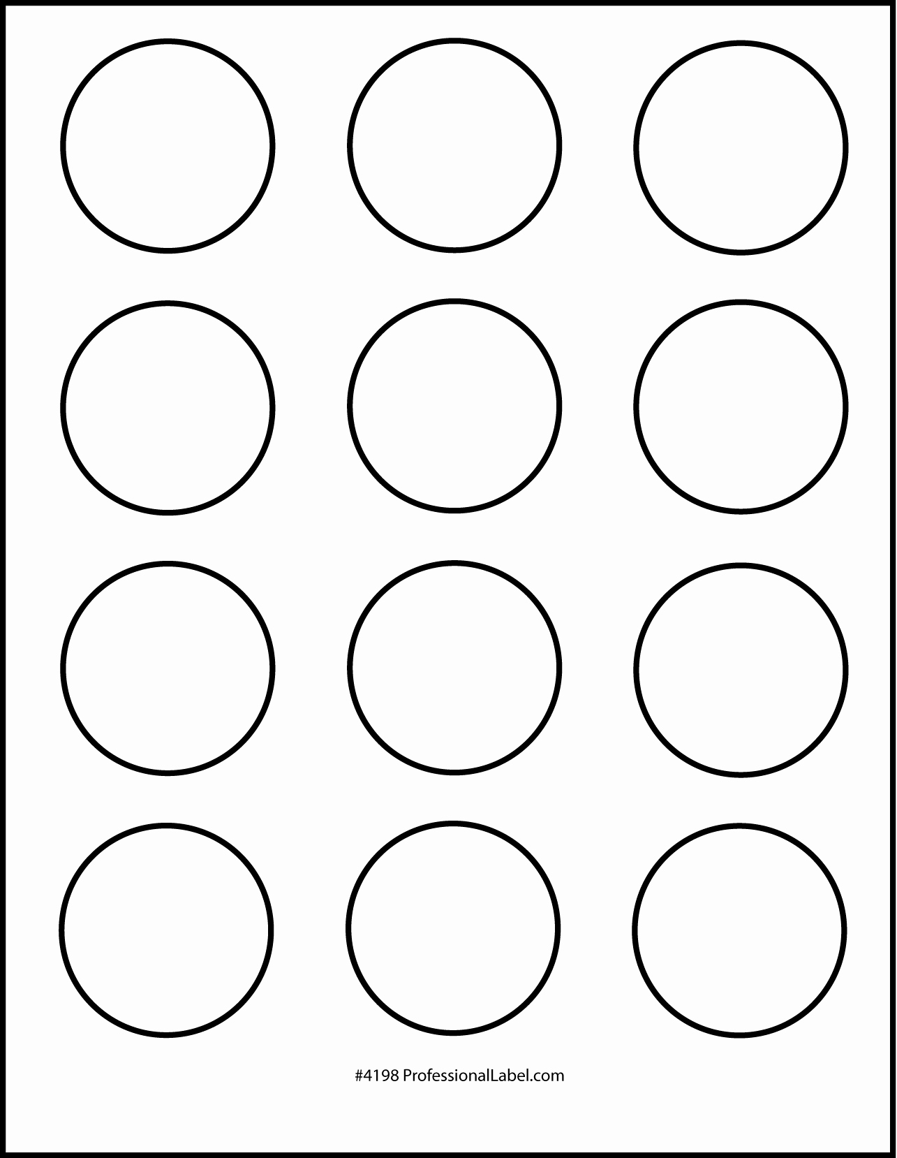 1 Inch Circle Template Elegant Matte White Printable Sticker Labels 250 Sheets 2 Inch