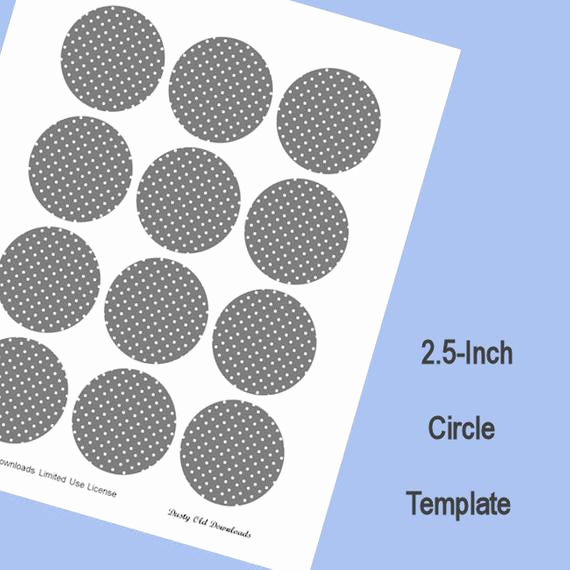 1 Inch Circle Template New 2 5 Inch Circle Template Digital Download From