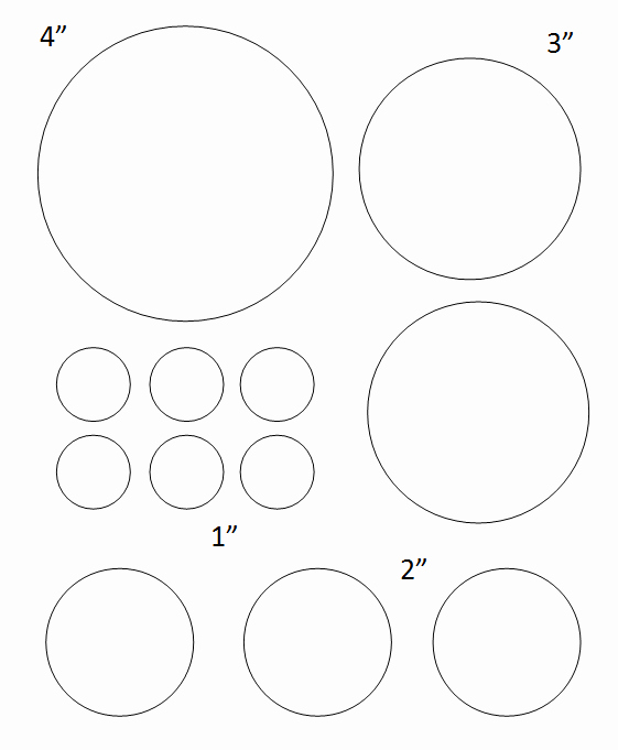 1 Inch Circle Template New Free Printable Circle Templates and Small Stencils