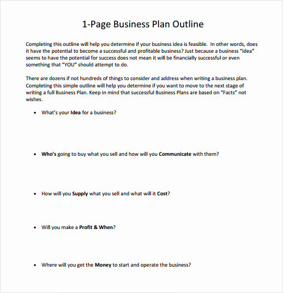 1 Page Business Plan Inspirational E Page Business Plan Sample 10 Documents In Pdf Word