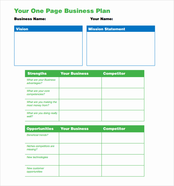 1 Page Business Plan Luxury E Page Business Plan Template 10 Download Free