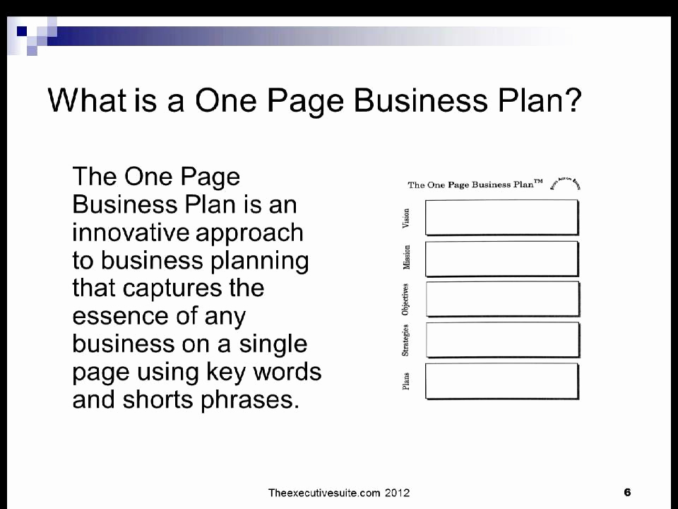 1 Page Business Plan Luxury Planning Smart with E Page Business Plans