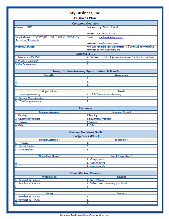 1 Page Business Plan New Sample Small Business Plan E Page Plan