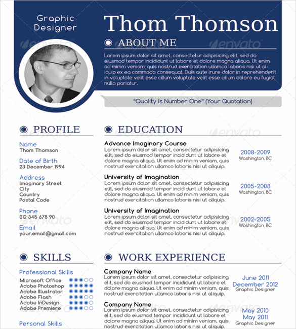 1 Page Resume Template Awesome 41 E Page Resume Templates Free Samples Examples