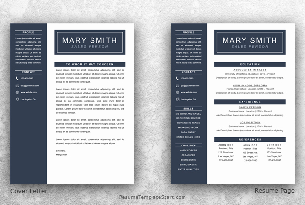 1 Page Resume Template Awesome E Page Resume Template Word Resume Template Start