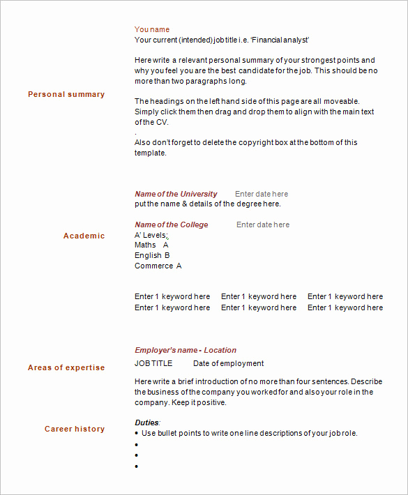 1 Page Resume Template Luxury 41 E Page Resume Templates Free Samples Examples