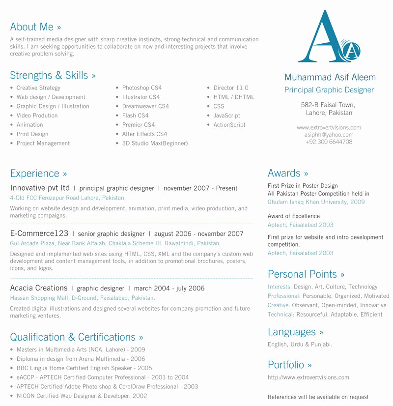 1 Page Resume Template New 30 Beautiful Designer's E Page Resume Samples – the