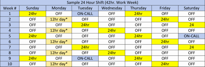 12 Hour Shift Schedule Best Of Field Shift Schedules Ems