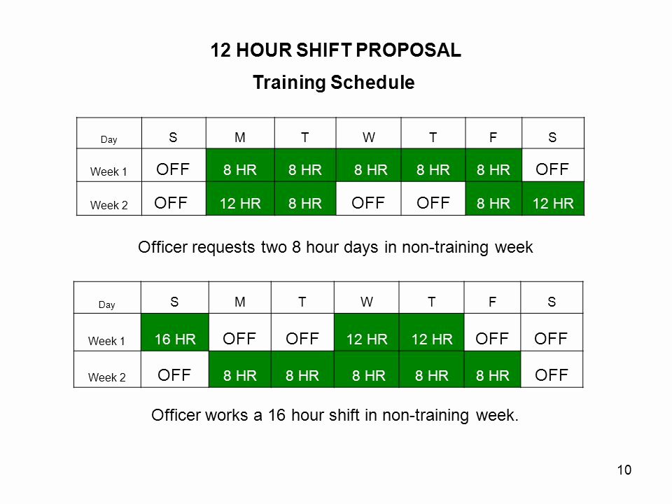 12 Hour Shift Schedule New 12 Hour Shift Proposal Mwaa Police Iad Station Ppt