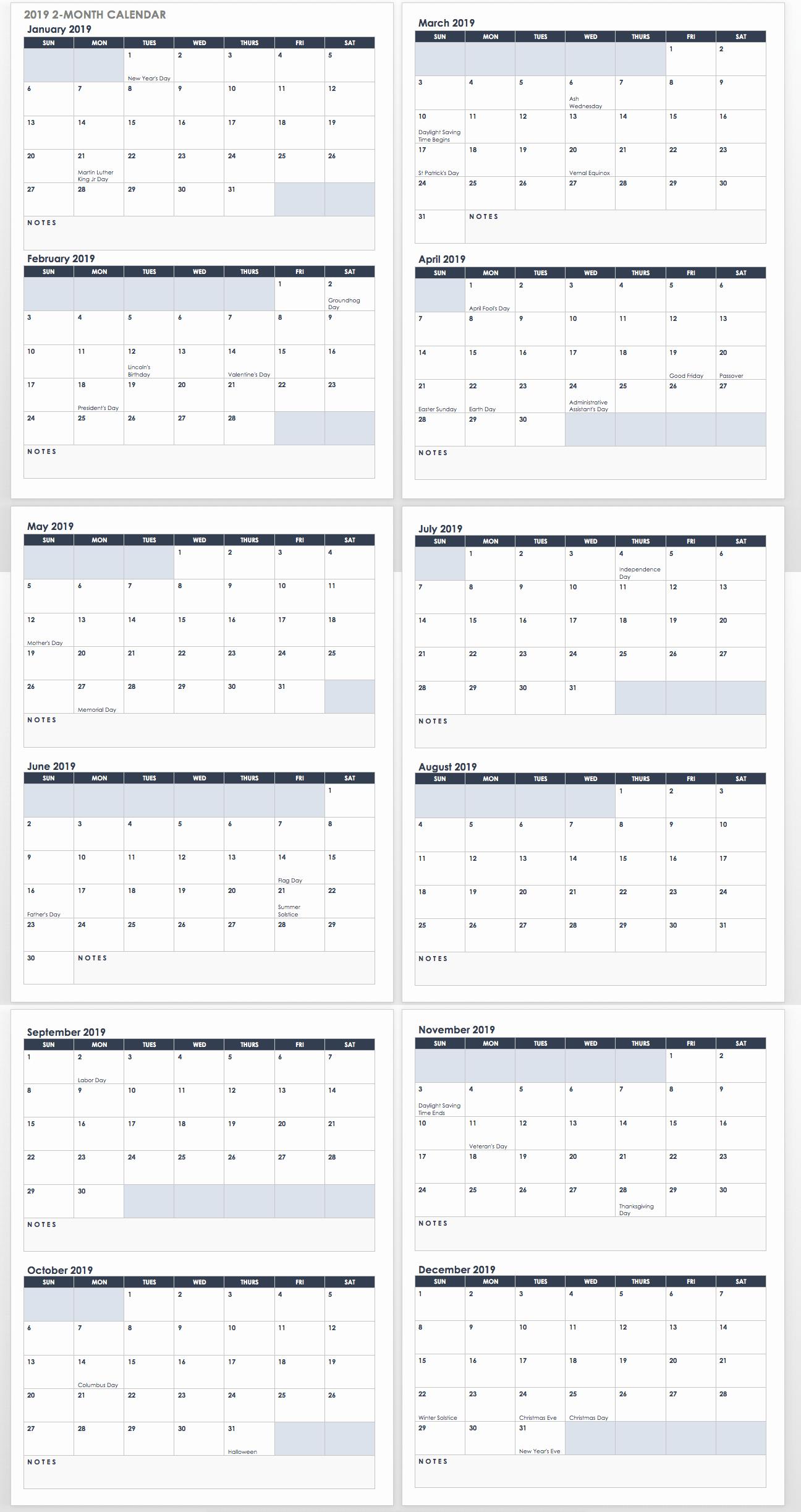 12 Month Calendar Template Beautiful 15 Free Monthly Calendar Templates