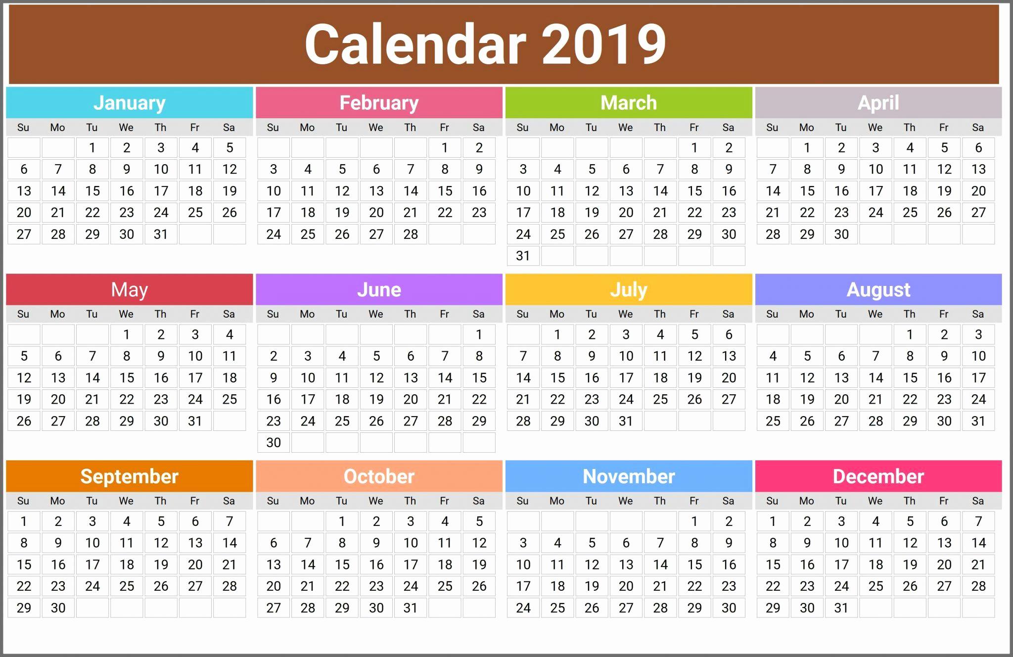 12 Month Calendar Template Inspirational 12 Month Calendar In E Page
